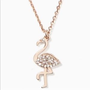 Kate Spade By The Pool Pave Flamingo Necklace